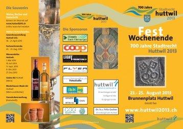 Festwochenende_web.pdf - 700 Jahre Stadtrecht Huttwil 2013
