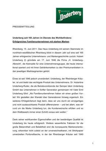 Download offizielle Pressemitteilung - Underberg