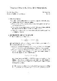 Übungen zu Struktur der Materie II (Festkörperphysik)
