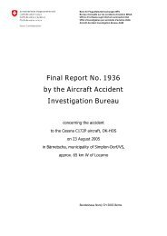 Final Report No. 1936 by the Aircraft Accident Investigation Bureau