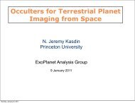 Occulters for Terrestrial Planet Imaging from Space - Exoplanet ...