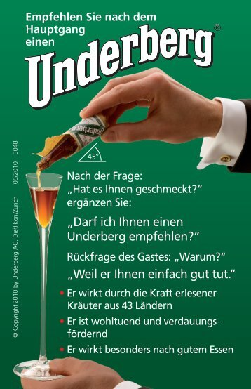 Gastro-Greencard Download - Underberg
