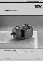 Caractéristiques de sécurité frein BE.. - SEW-Eurodrive