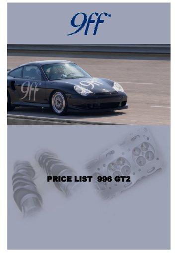 PRICE LIST 996 GT2 MOTOR TUNING
