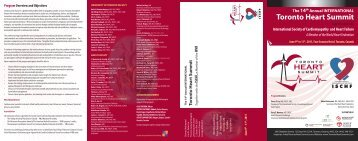 The 14th Annual INTERNATIONAL Toronto Heart Summit