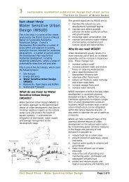 Land Division Fact Sheet 3 Water Sensitive Urban Design