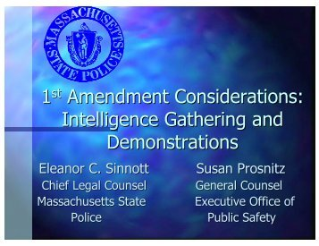Intelligence Gathering and Demonstrations