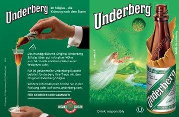 Drink responsibly - Underberg