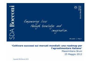 Relazione del prof. Bruni - SDA Bocconi - Vini e Sapori