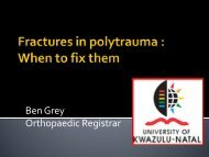Fractures in polytrauma : When to fix them