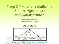 Collaboration Mads Troels Hansen Hans Haller Baggesen Agile 2009