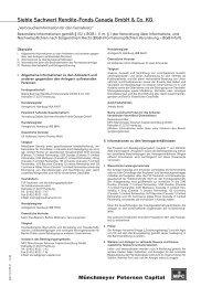 Siebte Sachwert Rendite-Fonds Canada GmbH & Co. KG