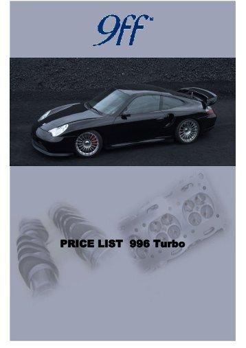 PRICE LIST 996 turbo BRAKES