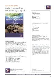 Jorden i omvandling Del 4: Vittring och jord - SLI.se