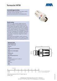 Termostat MTW - Toomec