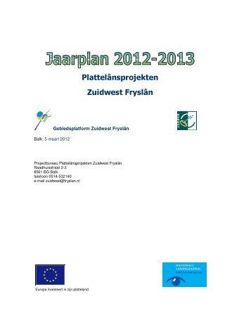 Jaarplan Zuidwest 2012-2013.pdf - Provincie Fryslân