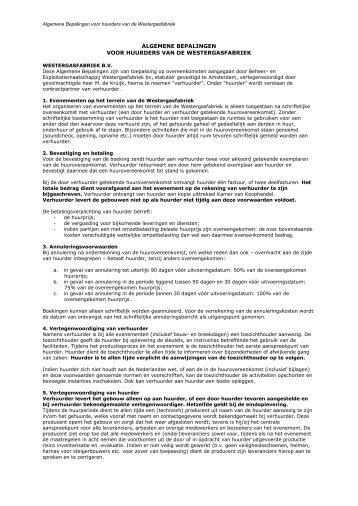 Algemene bepalingen voor huurders van de Westergasfabriek (pdf)
