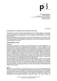 Spendenbrief 2007 - PBI