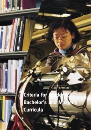 Criteria for Academic Bachelor's and Master's Curricula