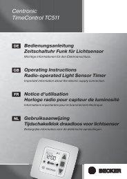 Becker Zeitschaltuhr TimeControl TC511 Anleitung - auf enobi.de