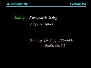 Today: Atmospheric Seeing Adaptive Optics Reading ... - HMC Physics