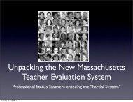 Unpacking the New Massachusetts Teacher Evaluation System