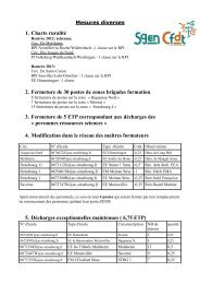 Mesures diverses - Sgen-CFDT ALSACE