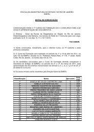 Edital de Convocação para o 1º Curso de Formação do V ... - Emerj