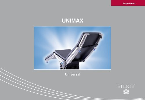 Unimax - Brochure - STERIS Surgical Technologies