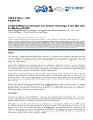 Combined Reservoir Simulation And Seismic Technology, A New ...