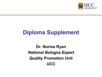 Completing the Diploma Supplement - EURIreland.ie