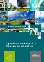 Agenda des évènements 2012 Catalogue des publications - Ubifrance