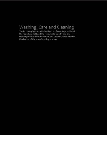 Washing, Care and Cleaning