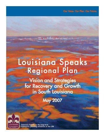 LoUiSiAnA SPeAkS RegionAL PLAn - Louisiana Recovery Authority