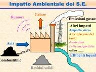 Impatto Ambientale dei S.E. - Dimeca