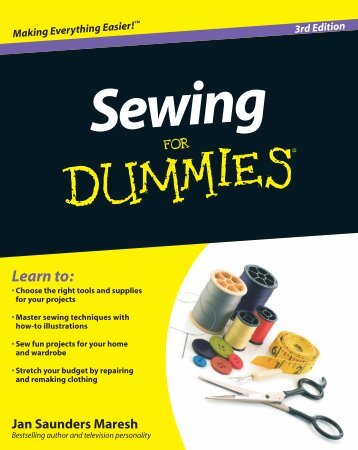 Sewing for Dummies – 421pages