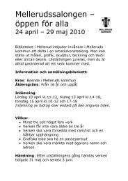 Information och anmälan - Mellerud