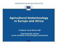 Agricultural biotechnology in Europe and Africa-Anne Glover