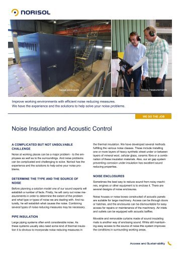 Noise Insulation and Acoustic Control - Norisol