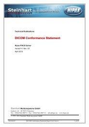 DICOM Conformance Statement HIPAX PACS Server (pdf 229 KB)