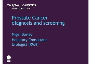 Nigel Borley - Royal Marsden Hospital