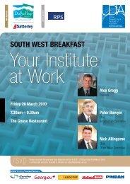 SouTh WeST BReakFaST - Urban Development Institute of Australia