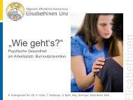 """""""Wie geht`s"""" Psychische Gesundheit am Arbeitsplatz ... - ONGKG"""