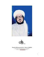 Shaykh Muhammad bin `Alawī al-Mālikī - ma'rifah