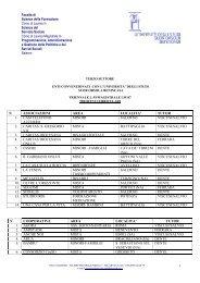 elenco enti convenzionati (triennale e magistrale) - Istituto ...