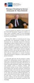 Transatlantic Program 2009 - Page 2