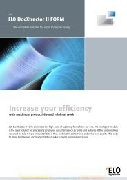 Increase your efficiency - ELO Digital Office