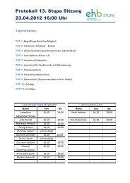 Protokoll 13. Stupa Sitzung 23.04.2012 16:00 Uhr - KeinDrama