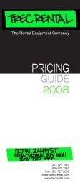 PRICING - TREC Rentals