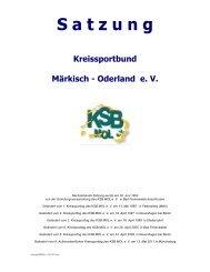 Satzung - Kreissportbund Märkisch-Oderland